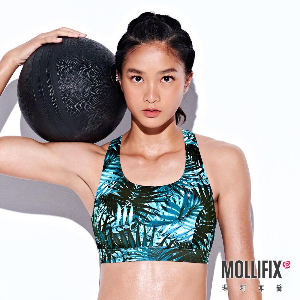 Mollifix 瑪莉菲絲 弧線美背運動內衣 (叢林綠)