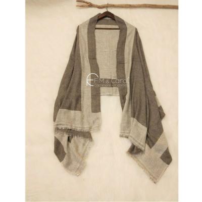 【F.M&Carol】巴洛克系列- 100%純喀什米爾厚款羊絨披肩(米駝色)