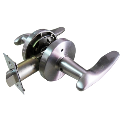 加安牌 LYWX203P 現代風 通道鎖 60mm 磨砂銀 圓套盤 水平把手鎖 水平鎖