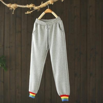 撞色束腳衛褲加絨運動褲寬鬆長褲-設計所在