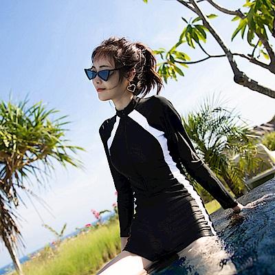 Biki比基尼妮泳衣   百達褲裝連身泳衣比基尼泳衣(M-2XL)