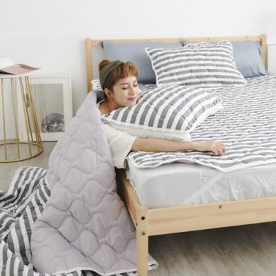 Adorar 平單式針織親水涼感枕墊1入-灰(43x75cm)