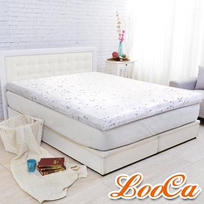 LooCa 雅緻緹花彈力平面10cm記憶床墊-單大3.5尺