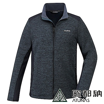 【ATUNAS 歐都納】男款質感刷毛抗風透氣彈性保暖毛感風外套A-G1841M深灰