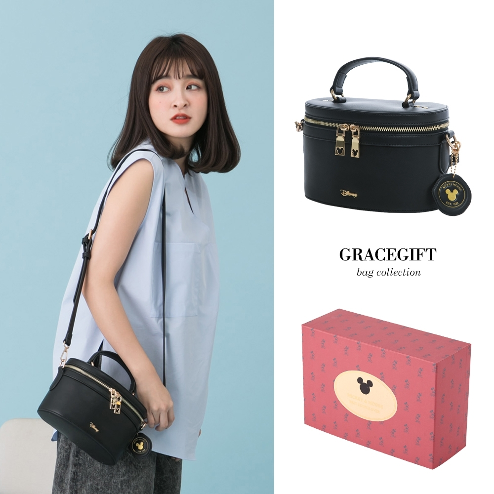 Disney collection by grace gift-迪士尼米奇收納化妝包 黑 product image 1