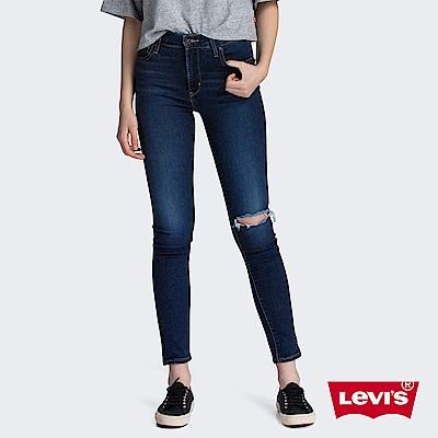 Levis 女款 721 高腰緊身窄管牛仔褲 Orta歐洲丹寧 毛鬚開口