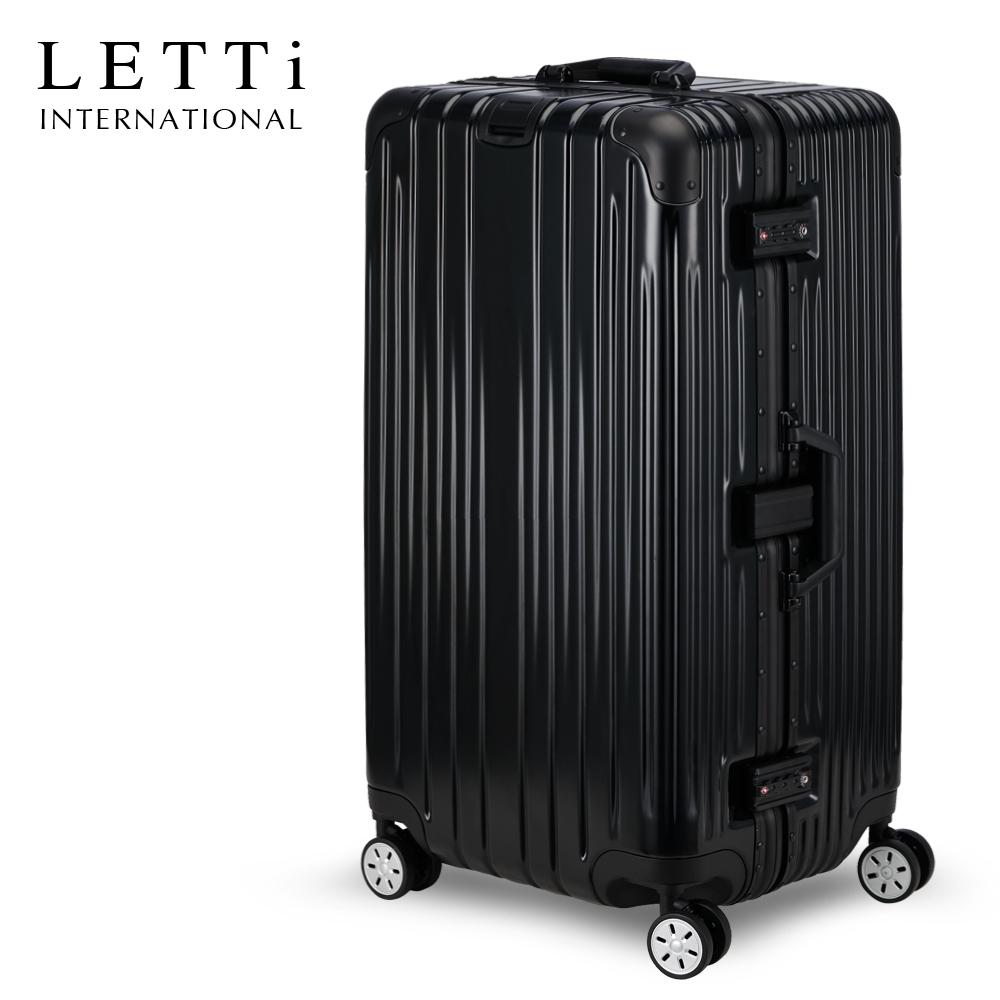 LETTi 旅途微風 29吋運動款胖胖箱行李箱(時尚黑)