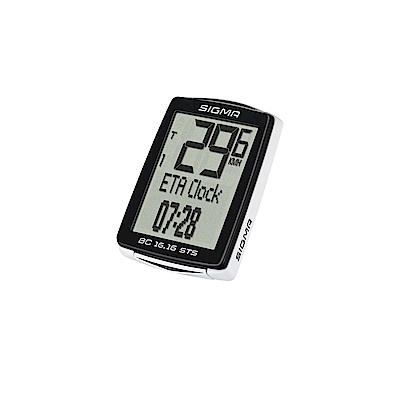 【SIGMA】BC 16.16 STS 十六項功能無線碼錶 含無線迴轉組