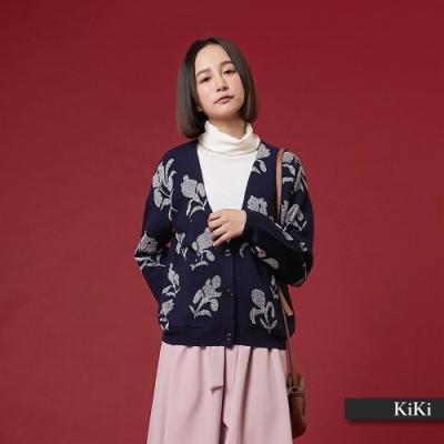 【KiKi】 保暖金銀蔥外套-針織衫(二色)