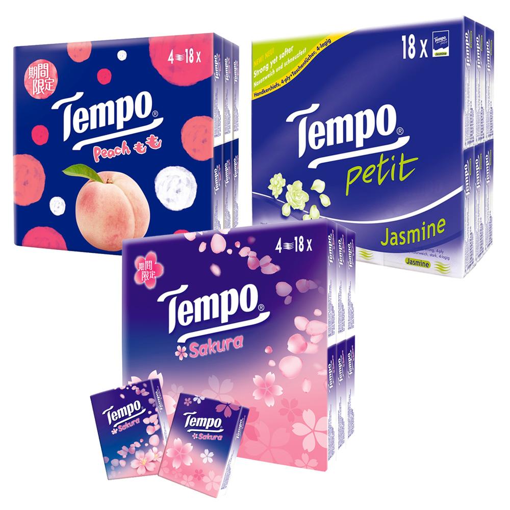 [限時搶購]Tempo紙手帕 7抽x18包/組(種類可選)
