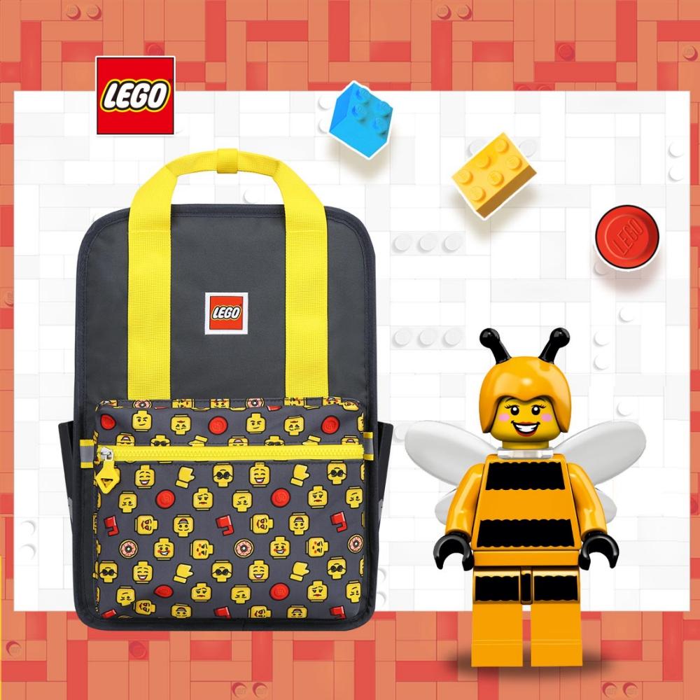 LEGO丹麥樂高歡樂背包-積木表情符號黃色 20128-1934