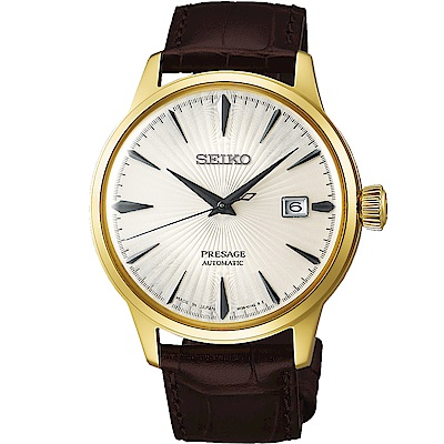 SEIKO精工 Presage調酒師系列自動上鍊機械錶(SRPB44J1)-金框/40mm