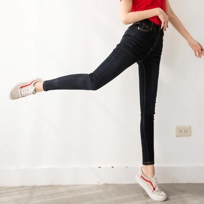 3D立體塑型視覺顯瘦刷色牛仔窄管褲-OB嚴選