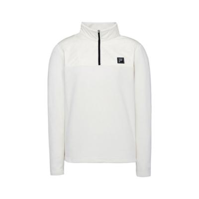 FILA 男長袖半開襟T恤-米白 1TET-5101-IV