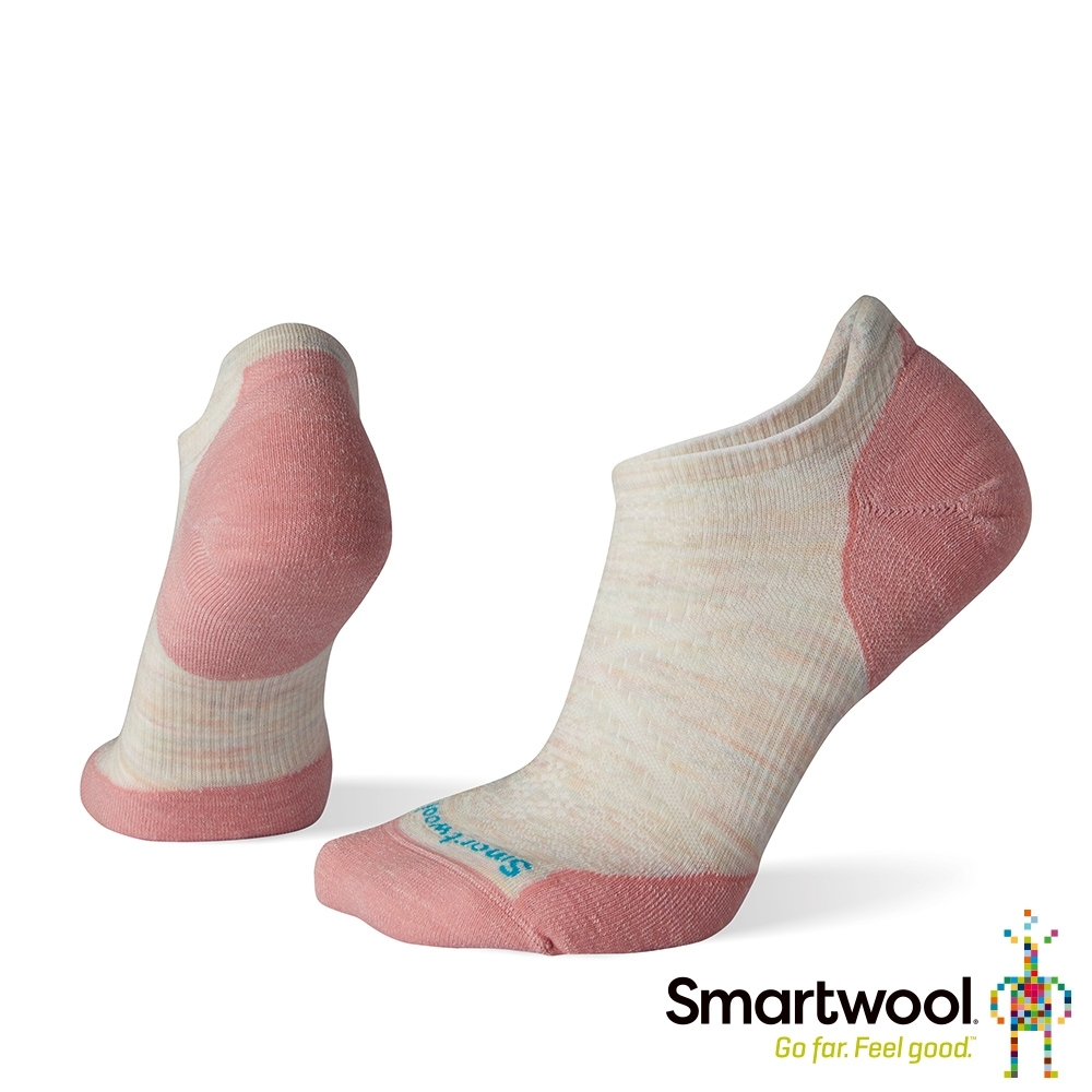 SmartWool 女 PhD輕量菁英減震型跑步踝襪 米白