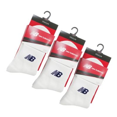 中筒襪 Crew Socks 3雙一包裝 紐巴倫 白色襪(7120400480_3)