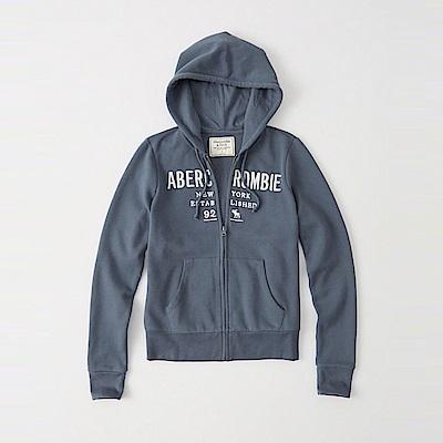 麋鹿 AF 限定款經典刺繡標誌連帽外套(女)-藍灰色