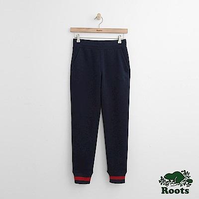 Roots-女裝-麥宏棉褲藍