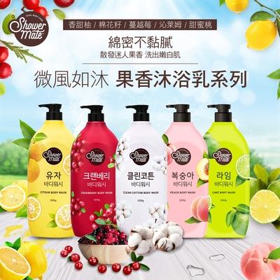 Shower Mate 微風如沐 果香沐浴乳系列1200g-(迷人果香洗出嫩白肌-任選1)