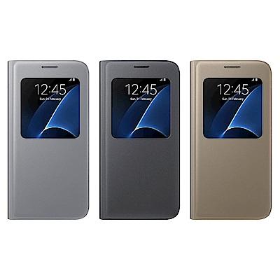 SAMSUNG GALAXY S7 S View 原廠透視感應皮套 (盒裝)