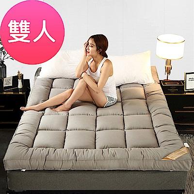 加厚10CM特級棉柔羽絲絨床墊(雙人/七色可選)