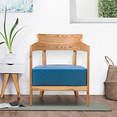 AS-曼蒂單人休閒椅(藍色)-62.5x59x78cm
