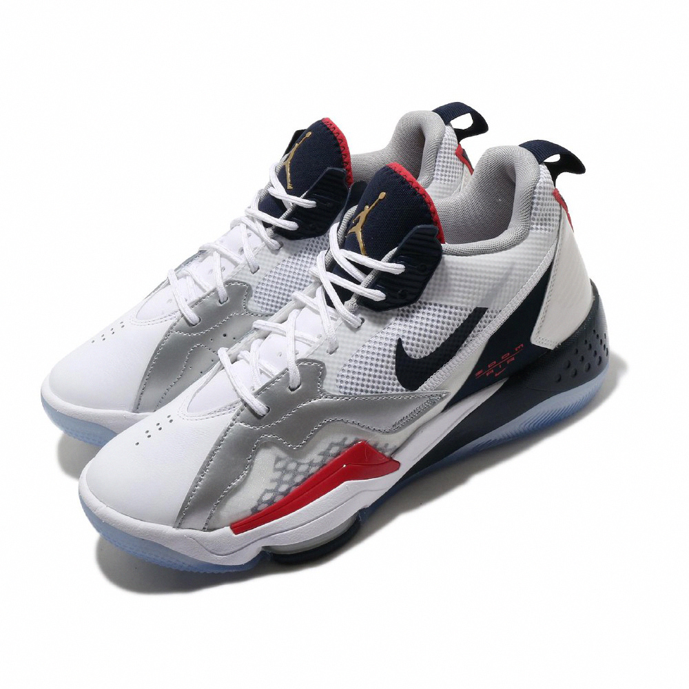Nike 籃球鞋 Jordan Zoom 92 運動 男鞋 氣墊 避震 喬丹 包覆 支撐 球鞋 白 藍 CK9183101