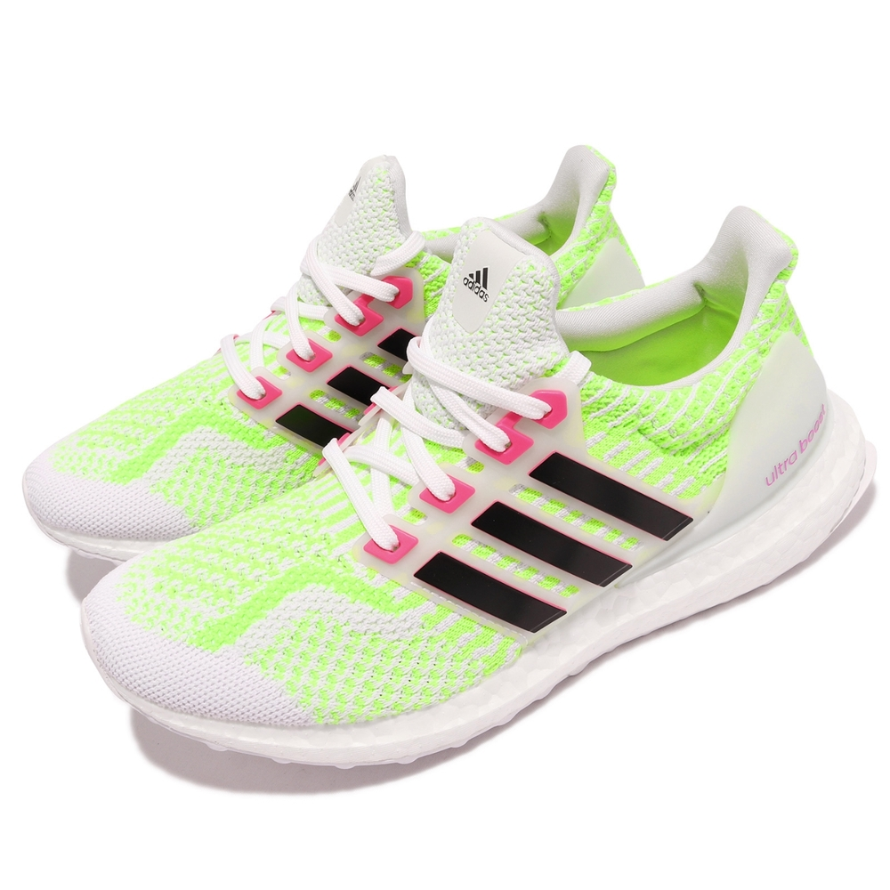 adidas 慢跑鞋 Ultraboost 5 DNA 女鞋 海外限定 愛迪達 健身 避震 包覆 運動 白 黃 G58759