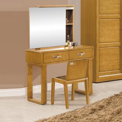 【AS】萊妮全實木化妝台(含椅)-90x45x136.5cm