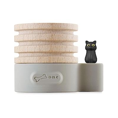 【Bone】原木擴香台 Wood Diffuser -喵喵貓