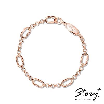 STORY故事銀飾-Charm扣扣系列-基礎手鍊(玫瑰金)