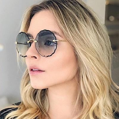 Chloe眼鏡 浪漫小花邊款/金-漸層藍 #CE142S 816