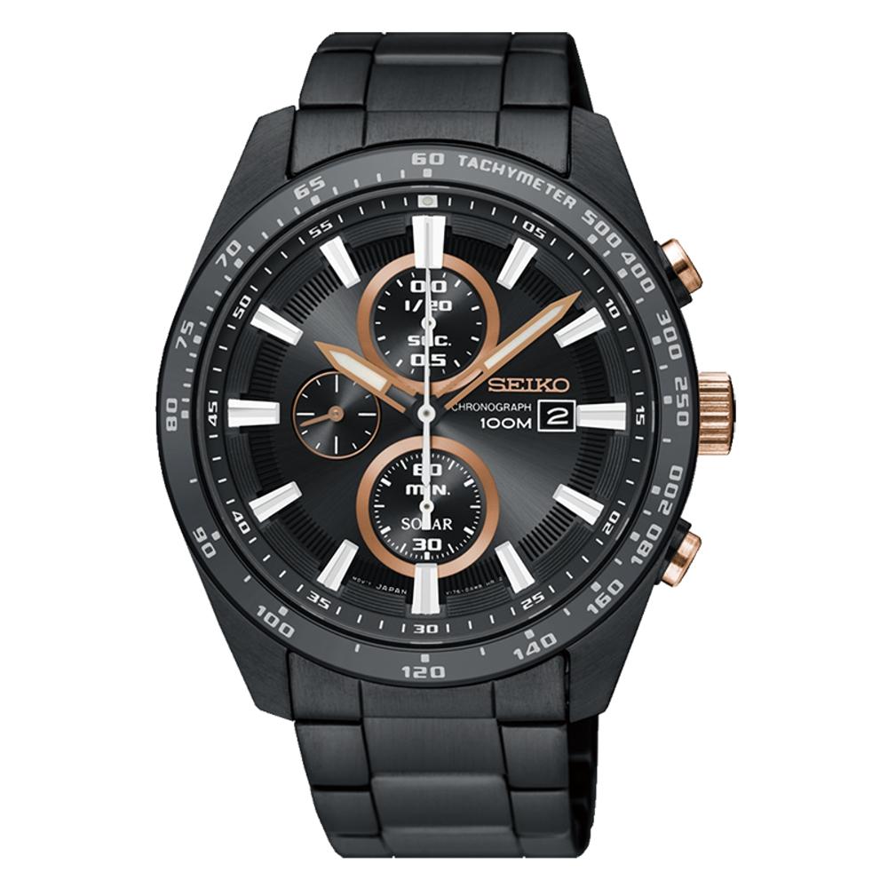 SEIKO 精工 CRITERIA登躍極致太陽能運動腕錶/SSC661P1/V176-0A