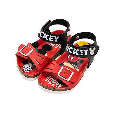 迪士尼童鞋 米奇 經典扣帶涼鞋-紅