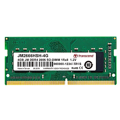 Transcend 創見 JetRam  4 GB DDR 4   2666  筆記型電腦記憶體