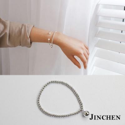 JINCHEN 純銀彈性珠珠手鍊