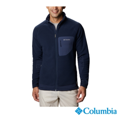 Columbia 哥倫比亞 男款 -  Polartec 200超柔感刷毛立領外套-深藍 UAE07690NY
