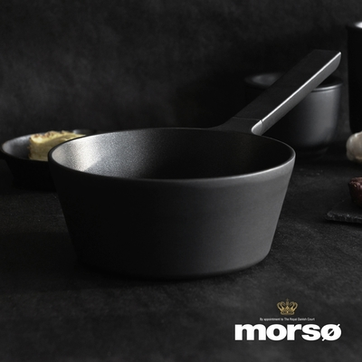 丹麥Morsø 皇家黑爵士單柄3層不沾鑄鋁湯鍋(1.8L)-20cm