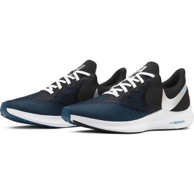 NIKE 慢跑鞋 男鞋 避震 慢跑 運動鞋 黑藍 CU2990001 ZOOM WINFLO 6