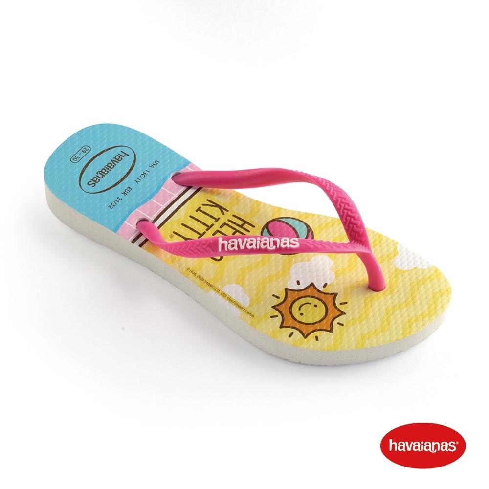 Havaianas 哈瓦仕 拖鞋 夾腳拖 人字拖 巴西 童鞋 兒童 白 4145748-0001K Kids Slim Hello Kitty 凱蒂貓