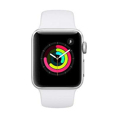 Apple Watch Series 3 (GPS) 38mm 銀色鋁金屬錶殼+白色錶帶