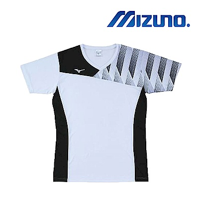 MIZUNO 美津濃 男女短袖排球T恤 黑白 V2TA8G1701