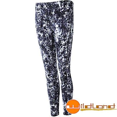 Wildland 荒野 0A52688-90灰色 女彈性保暖內搭貼腿褲