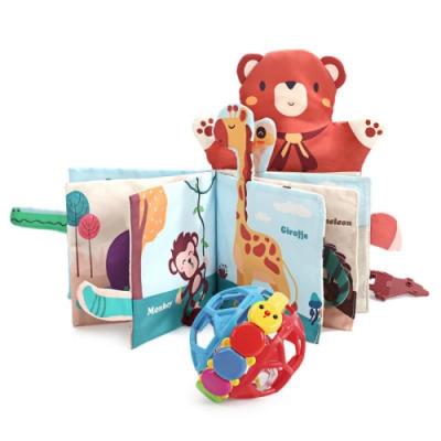 CuteStone  兒童布書與搖鈴球套裝玩具