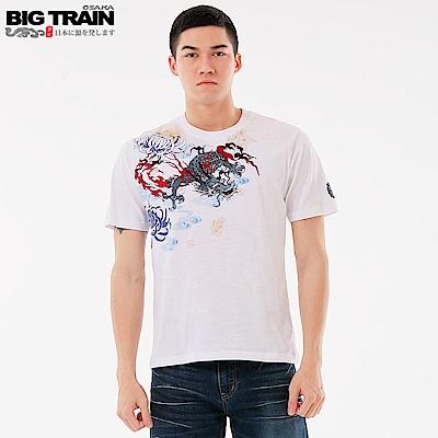 BigTrain 武將神龍圓領短袖-男-白