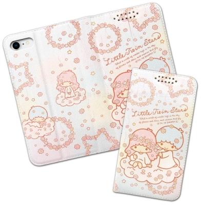三麗鷗授權 Kikilala 雙子星 iPhone SE 2020/SE2 粉嫩系列彩繪磁力皮套(花圈)