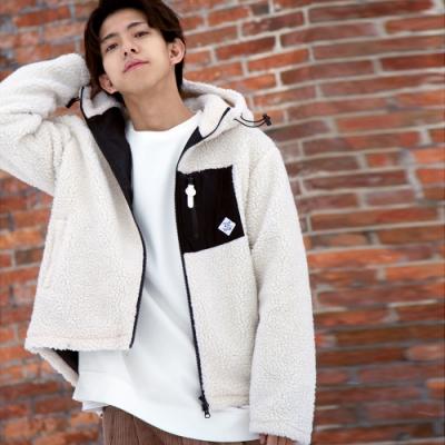 絨毛連帽夾克外套(9色) -ZIP日本男裝