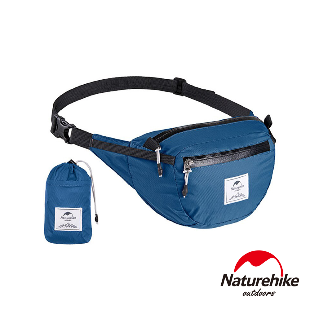 Naturehike 6L云雁超輕量防潑水折疊運動腰包 胸前包 藍色-急