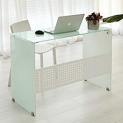 澄境 日系全強化玻璃電腦工作桌(100x48x75cm)-DIY