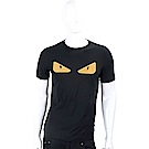 FENDI Bag Bugs 橡膠鉚釘魔眼設計黑色棉質T恤